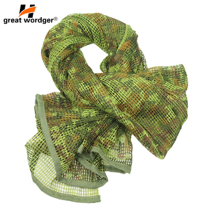 Image 1 - Outdoor Military Camouflage Tactical Mesh Breathable Scarf Sniper Face Veil Camping Hunting Multi Purpose Hiking Scarve