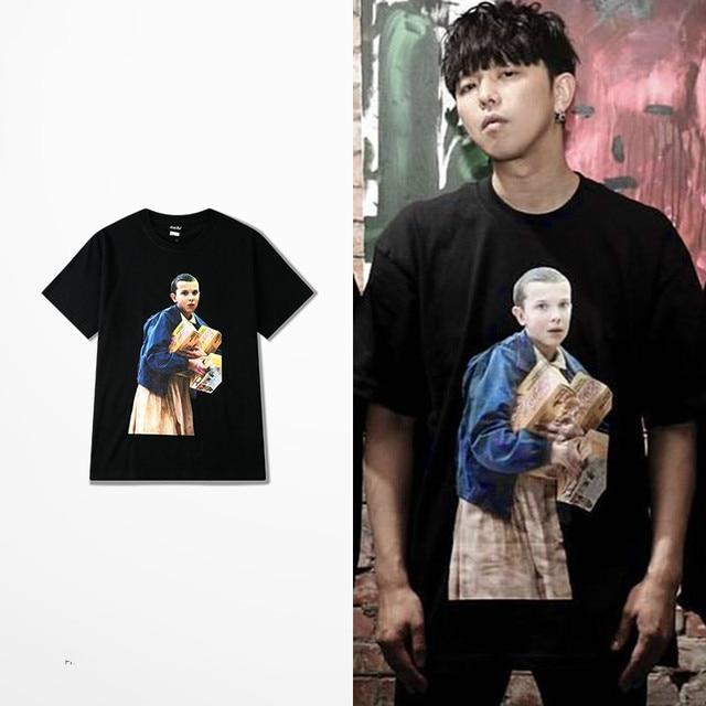 High Street Dark Souls T Shirt Man Fitness  Hip Hop Funny T Shirts Stranger Things Eleven T Shirt Enfant Garcon Skate Top Tee