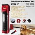 Профессиональный Pet Электробритвы Собака Триммер Clipper Двойной Батареи 4 Регулировка Скорости Codos CP9500 Аккумуляторная