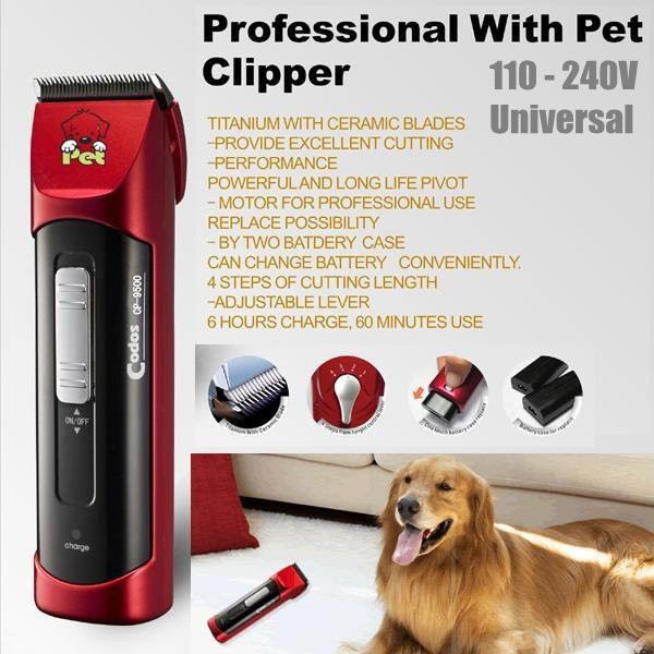 Professional Pet Electric Shaver Dog Trimmer Clipper Dual