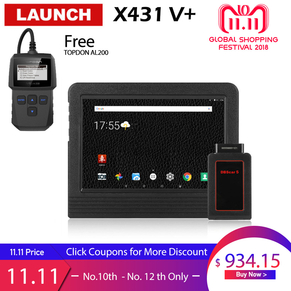 LAUNCH X431 V+ Diagnostic Tool Car Diagnostic Automotive Scanner obd2 Bluetooth WIFI Full system obd scanner obd 2 LAUNCH X431