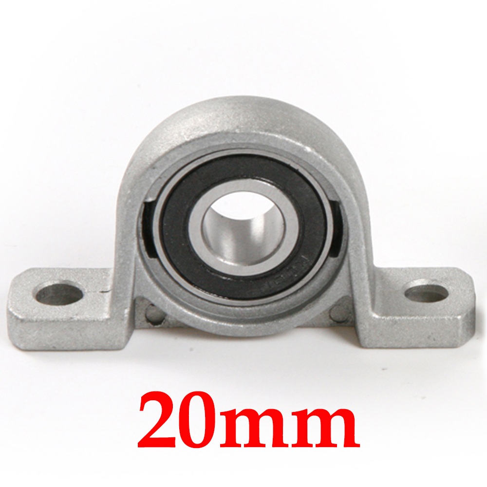 Zinc Alloy Ball Bearing Pillow Block Housing Mounted Support 20mm KP004 2pcs precision kp001 bearing shaft 12mm diameter zinc alloy pillow block mounted support ball bearings housing roller mayitr