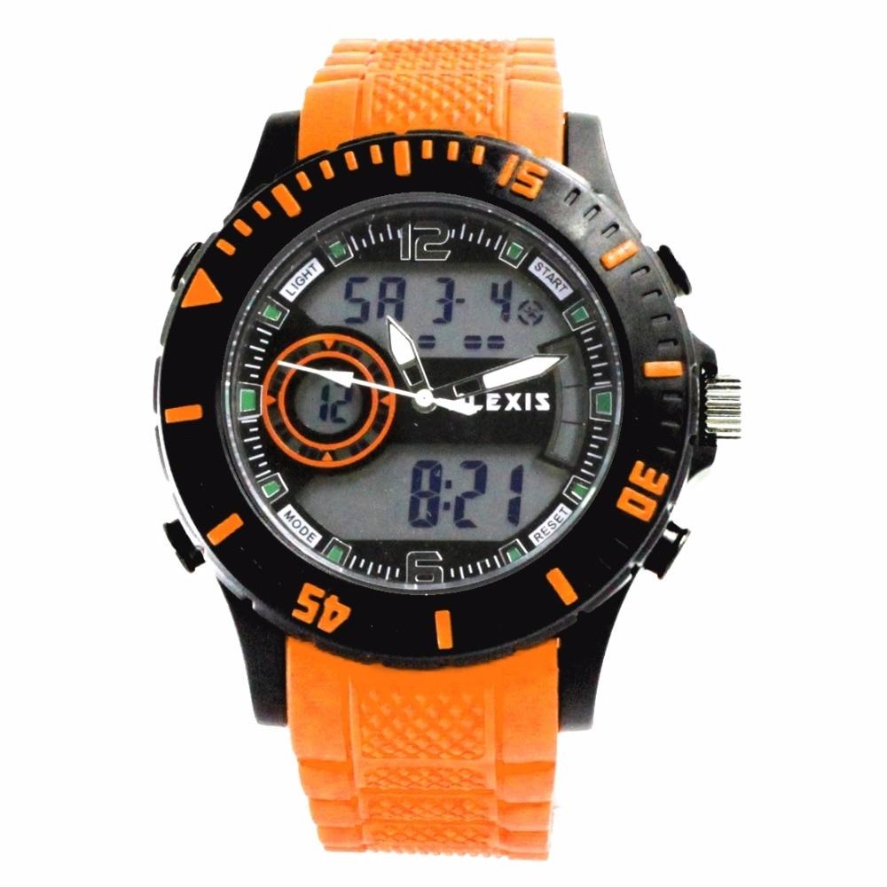 ALEXIS AW401B Date Alarm BackLight Black Bezel Water Resist Unisex Analog Digital Watch