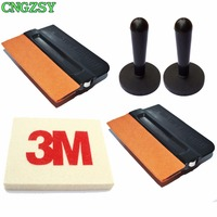 Pro Tint Suede Edge Wool Scraper Magnet Squeegee For Car Auto Film Window Wrapping Installing Glass