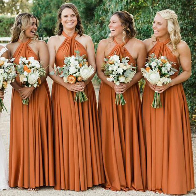 Sexy Sleeveless Bridesmaid Dresses Long Chiffon Wedding Party Dresses Robe Demoiselle D'honneur Party Gowns