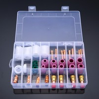 40pcs Welding Torch Stubby Gas Lens 17CB20G Collets Body 10 Pyrex Glass Cup Assemble Kit For