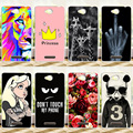For Sony Xperia C CN3 C2304 C2305 S39 S39H Painting Hard Plastic Protective Case Cover FOR Sony C 2304 2305 Phone Case Cover