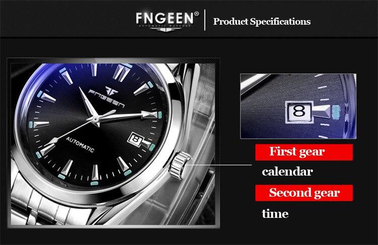 2019 Mens Wrist Watch Top Brand Luxury Watches Male Luminous Calendar Waterproof Stainless Steel Automatic Mechanical Wristwatch