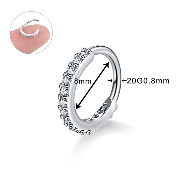Small Size Real Septum Rings Pierced Piercing Body Jewelry 1