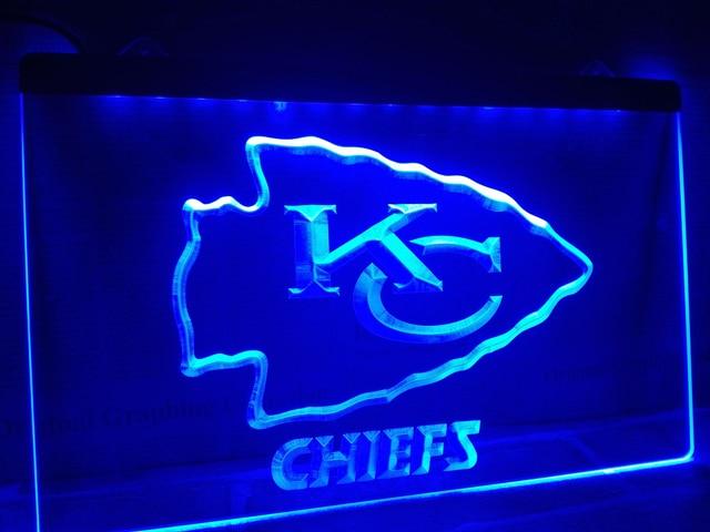 Ld046 Kansas City Chiefs Espn Bar Led Neon Light Sign Home Decor