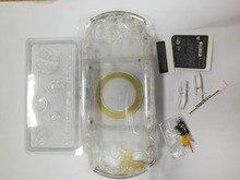 Clear สีใสสำหรับ PSP3000 PSP 1000 2000 3000 คอนโซลเกมเชลล์เต็มรูปแบบฝาครอบกรณีพร้อมชุดปุ่ม