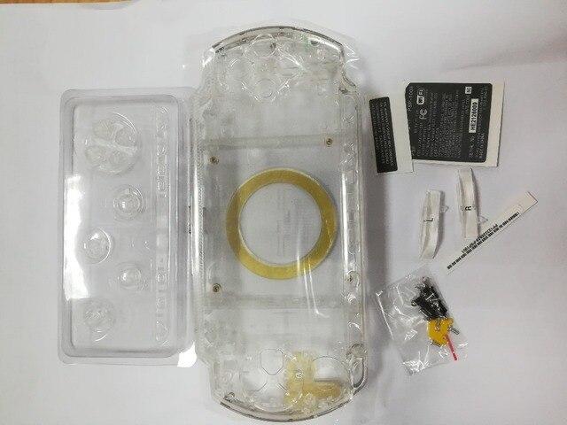 Şeffaf Şeffaf Renk PSP3000 PSP 1000 2000 3000 Kabuk Oyun Konsolu yedek tam konut kapak kılıf düğmeler kiti
