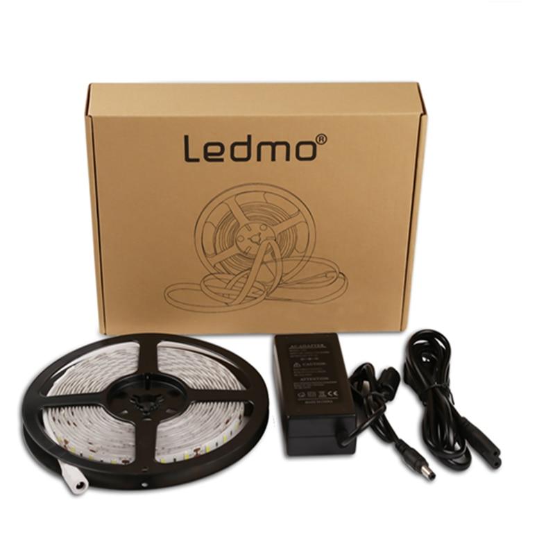 Led Strip Light 5630 5A Power 5M 300Leds TV Bakgrundsbelysning Warm White Vattentät Led Flexibel Ribbon Strip Light DC12V