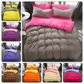 Concise Bedding Set Cotton 3/4 pcs Kids Child Bed Linen 150x210 180x220 200x230 220x240 Duvet Cover Plain Colour Queen King Size