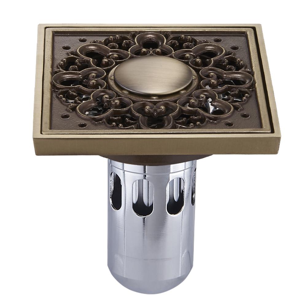 Le couvercle de vidange en cuivre drain déodorant de vidange filtre en acier inoxydable machine à laver drain lu5285
