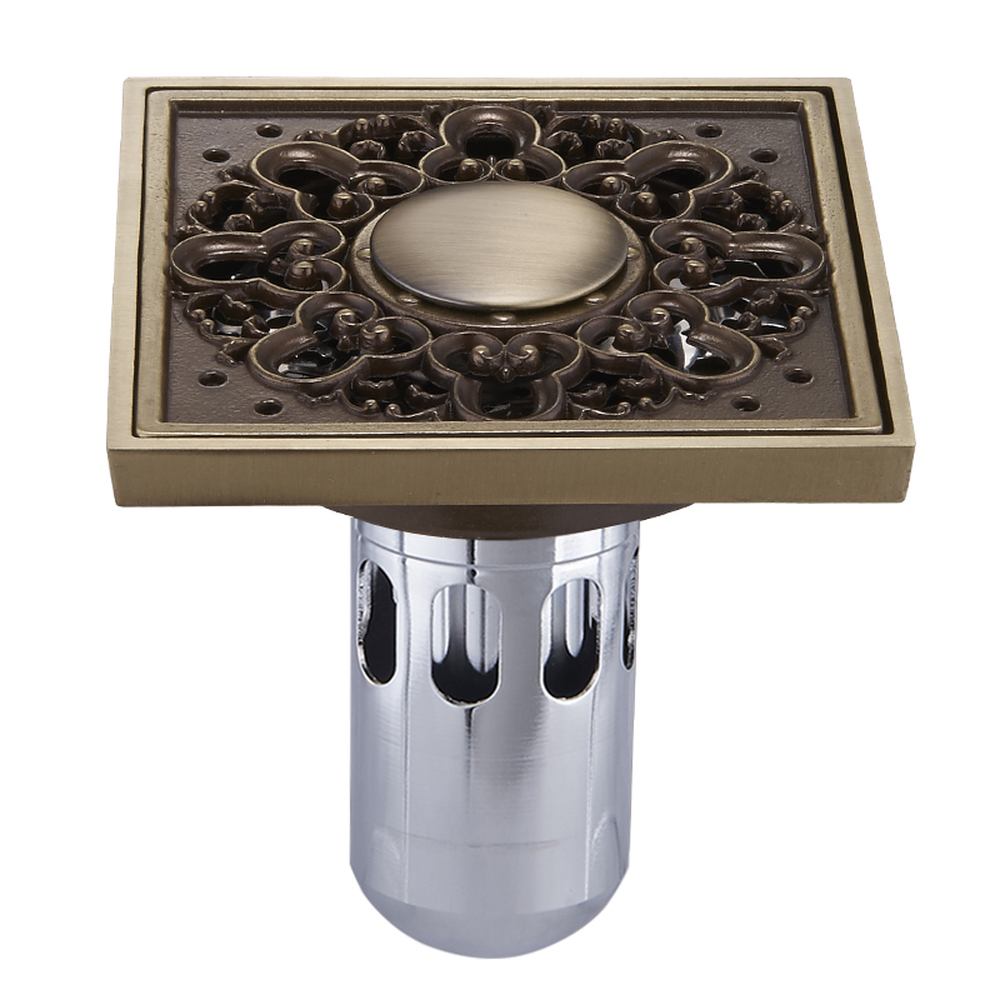 The copper drain drain cover drain deodorant stainless steel filter washing machine drain lu5285
