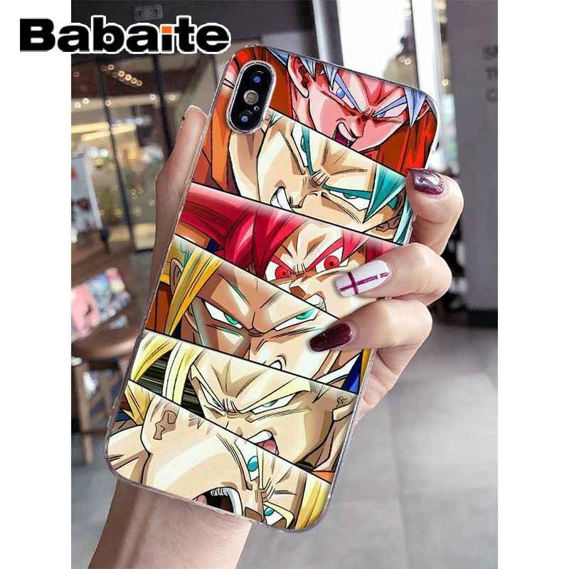 Babaite de Goku de Dragon Ball Z de silicona suave funda de teléfono TPU para Apple iPhone 7 6 6 S Plus X XS MAX 5 5S SE XR cubierta