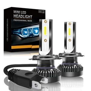 Image 1 - Led Car Headlight Led Lamp for Auto 8000lm 72W COB Chip Fog Lights C6 Mini LED Headlight Bulb 6000k H1 H7 H4 9005 9006 9012 led