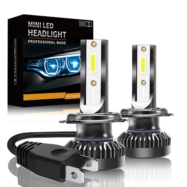Led Car Headlight Led Lamp for Auto 8000lm 72W COB Chip Fog Lights C6 Mini LED Headlight Bulb 6000k H1 H7 H4 9005 9006 9012 led