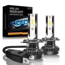 Led reflektor samochodowy Led lampa dla Auto 8000lm 72W COB Chip światła przeciwmgielne C6 Mini ledowa żarówka do reflektorów 6000k H1 H7 H4 9005 9006 9012 led