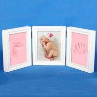 2017 nova arrivecute photo frame diy handprint ou a pegada do bebê macio bela coleção de madeira do vintage imagem frames12138