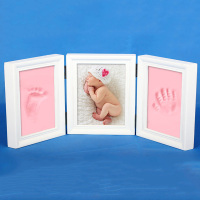 2017 New ArriveCute Photo Frame DIY Baby Handprint Or Footprint Soft Beautiful Collection Wooden Vintage Picture