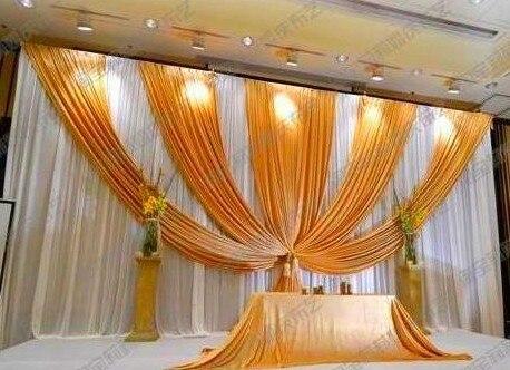 3m*6m Fabric Ice Silk Drape Curtain Wedding Backdrop ...