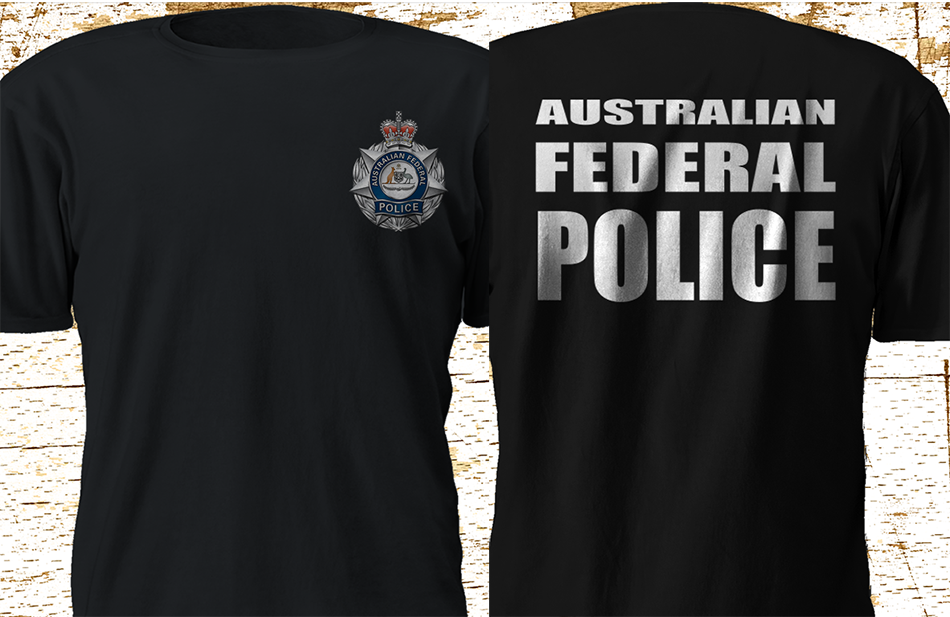 2019 Funny New Australian Federal Police Afp Special Force Interpol Black T-Shirt S-3Xl Double Side Unisex Tee