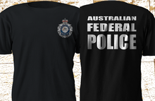 цены 2019 Funny New Australian Federal Police Afp Special Force Interpol Black T-Shirt S-3Xl Double Side Unisex Tee