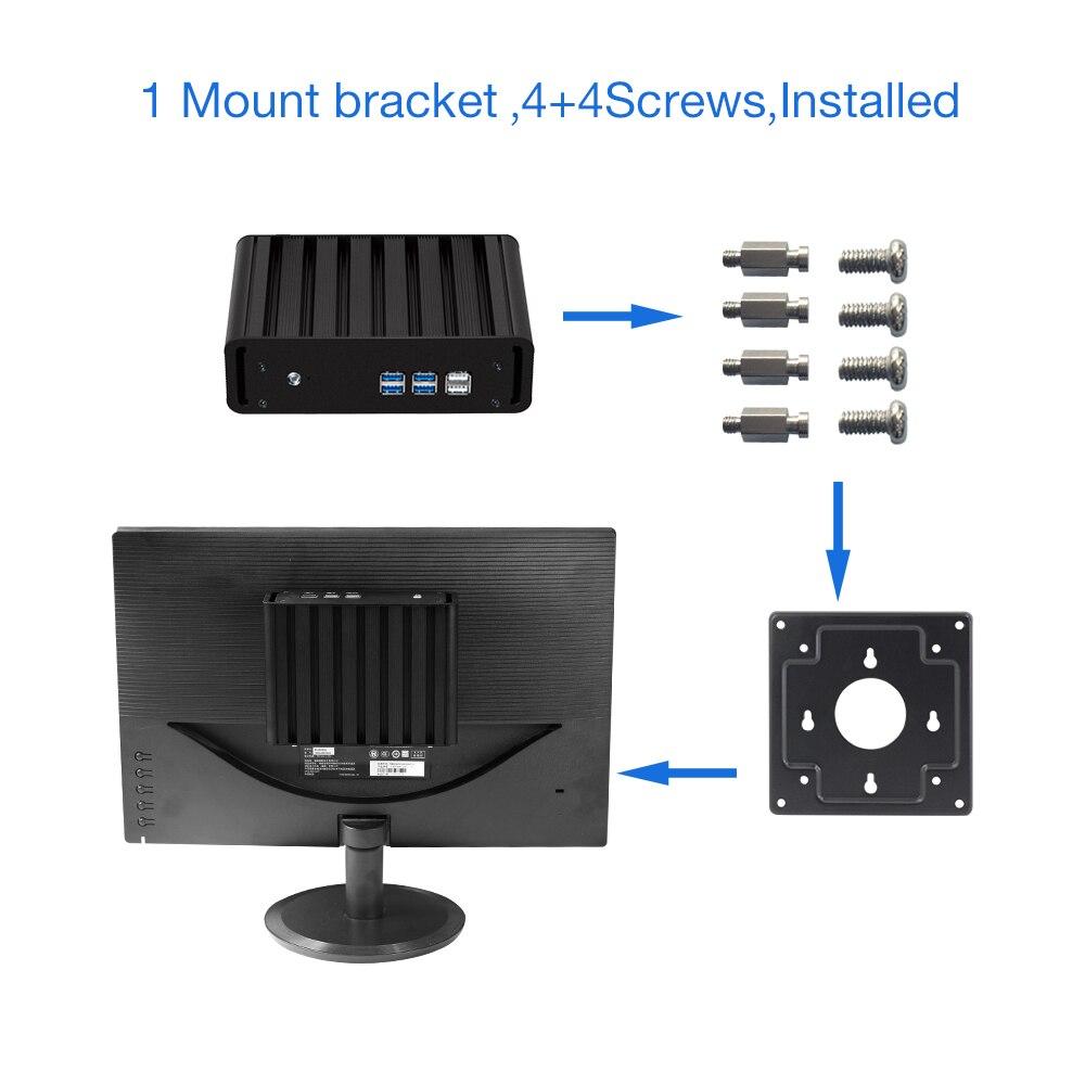 Image 5 - Mini Computer Fanless Intel Core i3 4010Y i5 4200Y i7 4610Y Windows 10 Linux HDMI VGA WiFi Gigabit LAN Compact Desktop PC-in Mini PC from Computer & Office