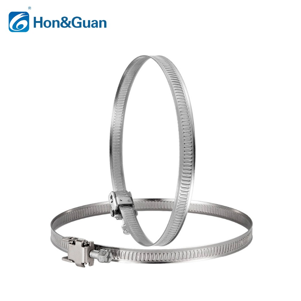 2pcs 5inch 125mm Stainless Steel Hose Clips Duct Clamp Adjustable Worm Drive Hose Clamp 10pcs hose clamp double ears o clips clamp worm drive fuel water hose pipe clamps clips