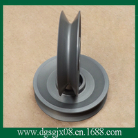 Aluminum/stainless steel cable wheel with anodization
