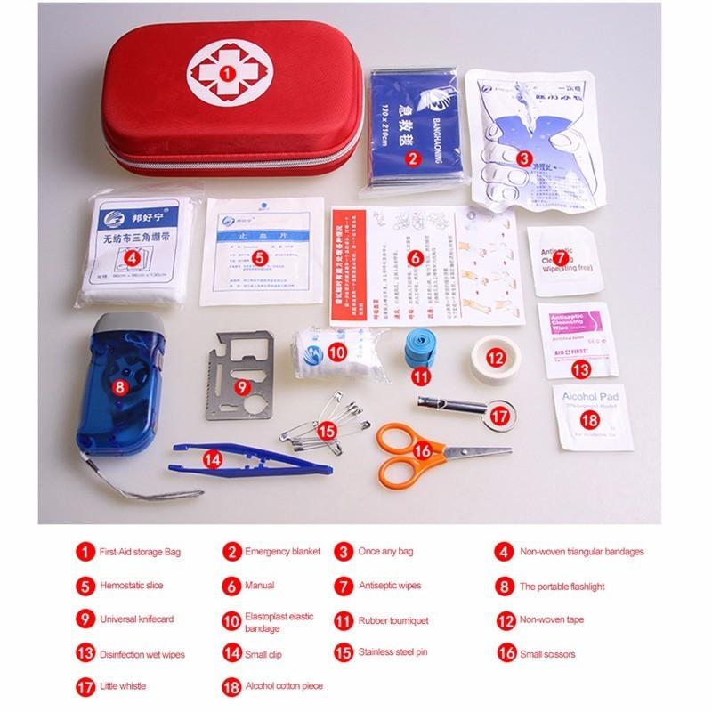 Esterna Soccorso red Primo Kit Sopravvivenza Corsa Impermeabile Medica orange Pz Black Casa Famiglia Auto Sacchetto 17 Portatile Di Borsa Emergenza Box fw4xqd