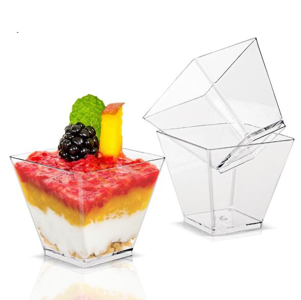 Promotion - Party Wedding Supplies, Disposable Plastic Tableware, 50*45mm/60ml Transparent Kova Dessert Cup, 10/Pack