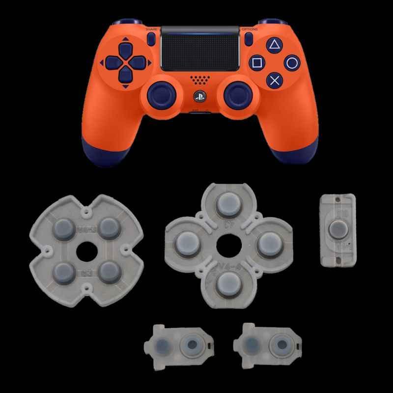 ل بلاي ستيشن 4 PS4 تحكم مطاط سيليكون موصل منصات ل Dualshock 4 JDS JDM 030 D وسادة أزرار