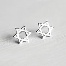 Ruifan Promotion Wholesale Hexagram Shape 100% 925 Sterling Silver Stud Earrings for Women Girls Small Jewelry YEA133