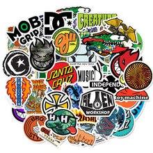 50 pçs skate marca de moda logotipo etiqueta à prova dwaterproof água para bagagem do carro guaitar skate telefone portátil bicicleta adesivos