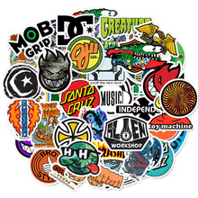 50pcs Skateboard Fashion Brand Logo Waterdichte Sticker Voor Bagage Auto Guaitar Skateboard Telefoon Laptop Fiets Stickers