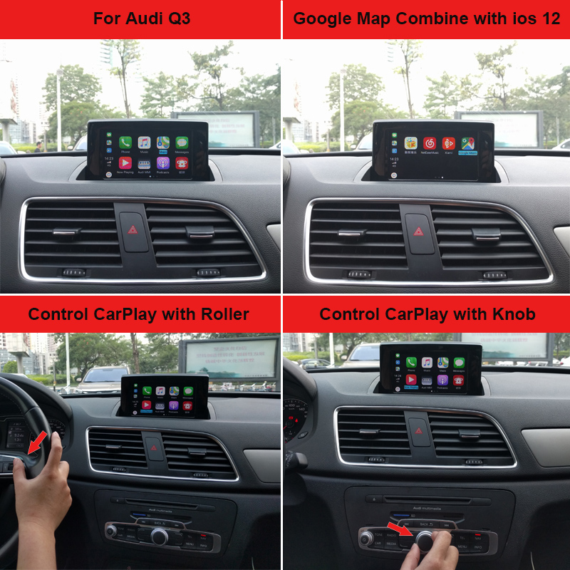 Carlinke Apple CarPlay interface for Audi A1 Q3 MMI factory