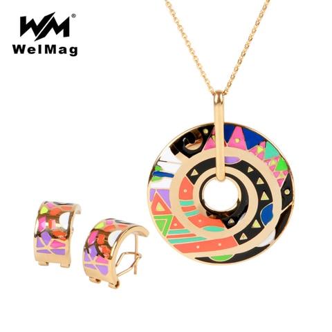 Купить ювелирные наборы welmag для женщин аксессуары ожерелье и серьги