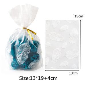 Image 2 - 50Pcs Plume Plastic Bag Easter Birthday Party Candy And Sweets Gift Bags Natal Present Anniversaire Gift Wrapping