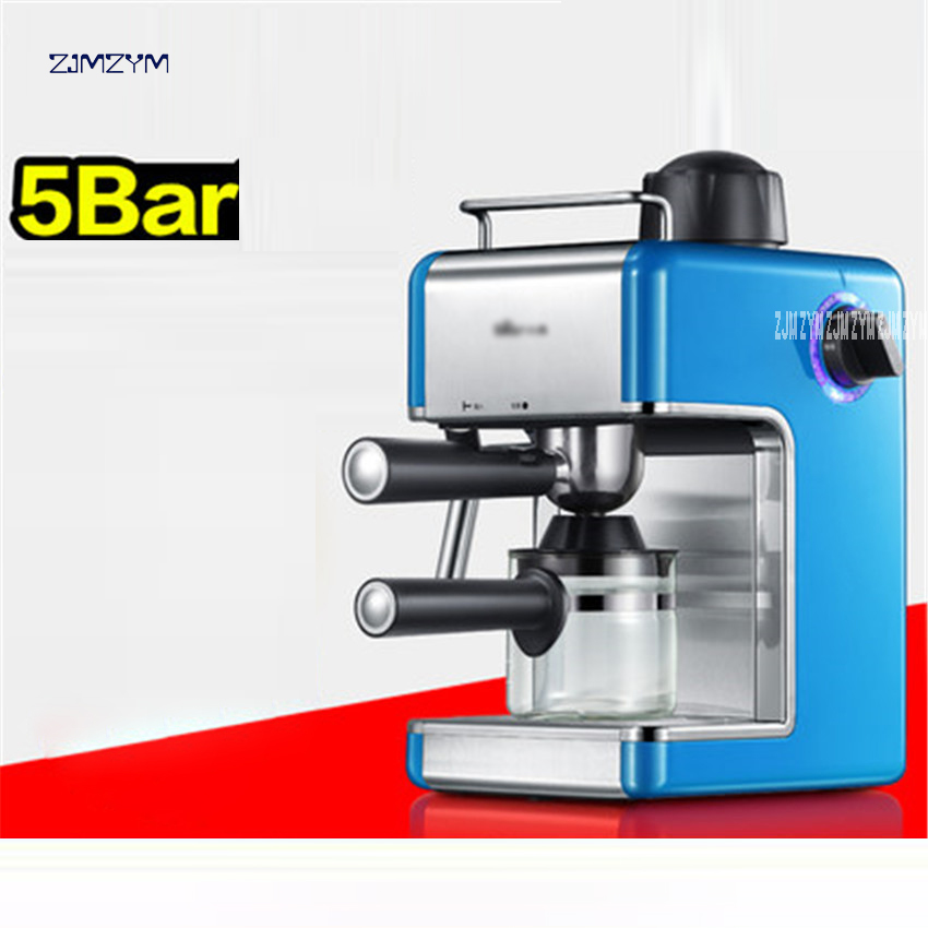 KFJ-202AA 5bar High pressure steam 0.24L coffee machine food grade PP coffee maker espresso household Cappuccino Milk foam 220V
