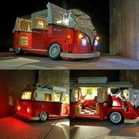 JULITE Light Bricks Led Building Blocks Kit For Creator 10220 The Volkswagen T1 Camper Van Compatible