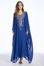 Muslim kaftan dubai long sleeve dress with diamonds for women Islamic clothing gown abaya for girls