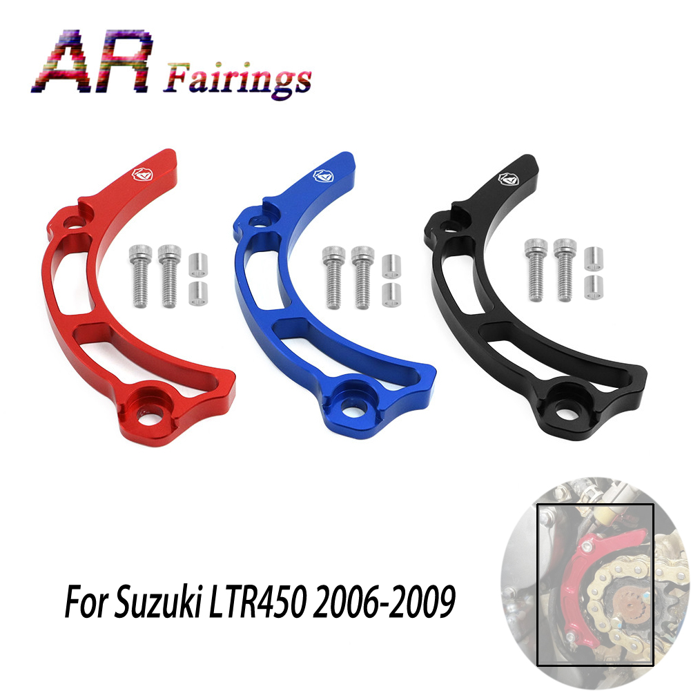 06-09 For Suzuki Quadracer / LTR 450 LTR450 ATV Parts CNC Chain Case Saver Guard Engine Slider Protector 2006 2007 2008 2009 09