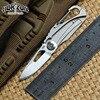 Korizon Original 704 Outdoor Gear Folding Knife Titanium Handle D2 Blade Steel Tactical Hunt Camping Survival