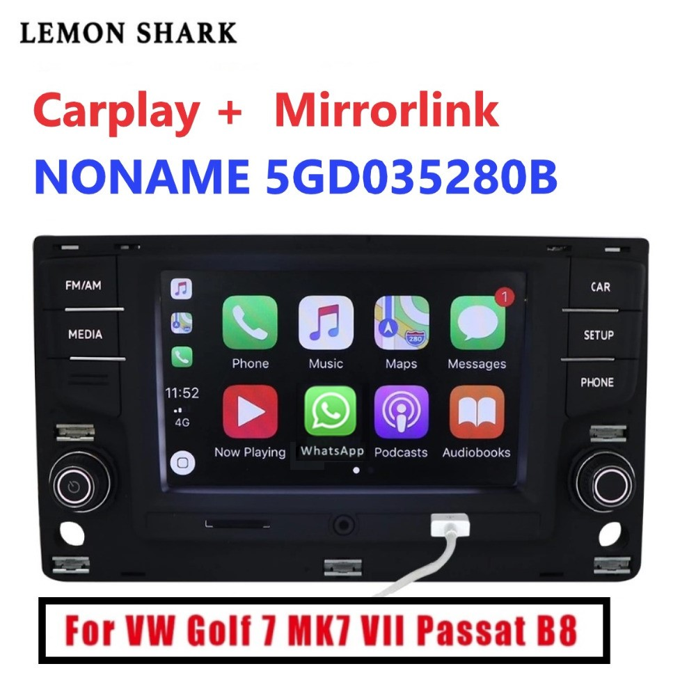6.5  MIB MQB Car Radio Carplay mirrorlink Bluetooth OPS Reverse Camera For  VW Golf 7 MK7  seven Passat B8 5GD 035 280B