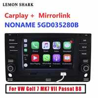 Radio de coche MIB MQB, Carplay mirrorlink, Bluetooth OPS, cámara de marcha atrás para VW Golf 7 MK7 seven Passat B8 5GD 035 280B, 6,5