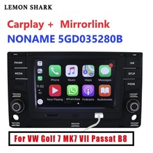 6.5 MIB MQB 자동차 라디오 Carplay mirrorlink 블루투스 OPS 역방향 카메라 폭스 바겐 골프 7 MK7 일곱 Passat B8 5GD 035 280B
