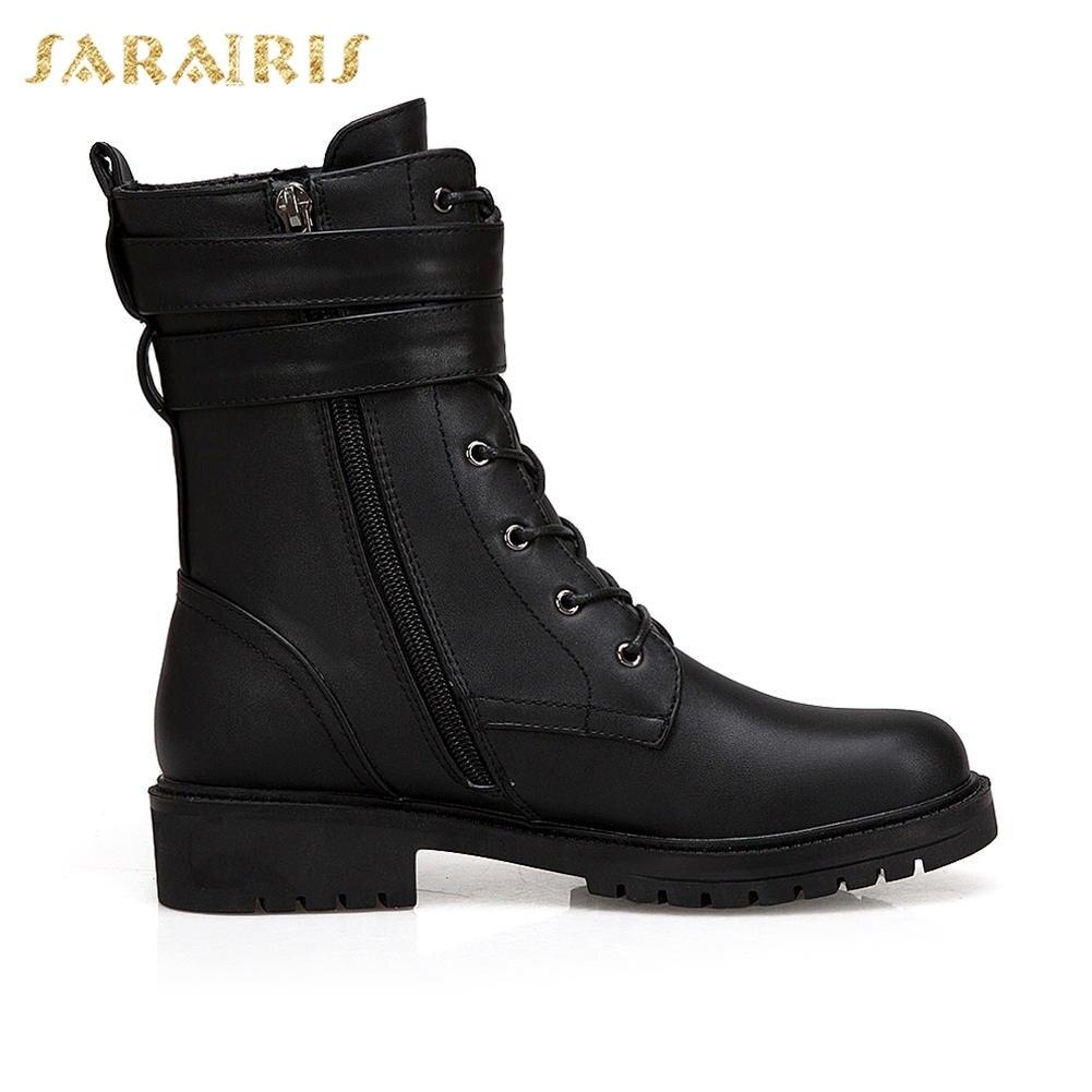 43 Bottes Chaussures Boucle Nouvelle Noir Up Printemps Zip Cheville Femme Sarairis Décoration Marque rouge 34 Grande Taille Automne Talons Carrés wvqxpg8X